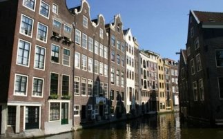 The old inner city of Amsterdam