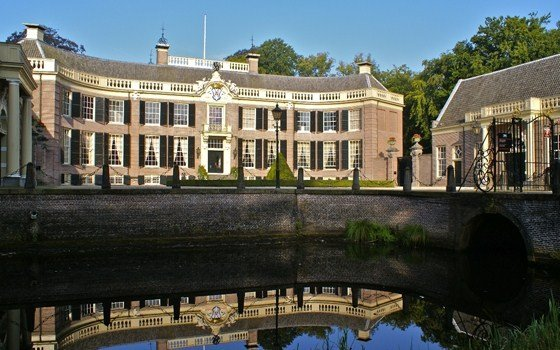 Front side of the Groeneveld castle