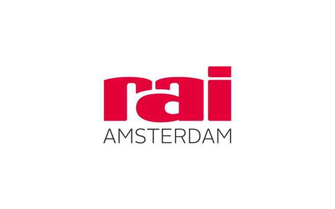 The logo of the RAI Amsterdam