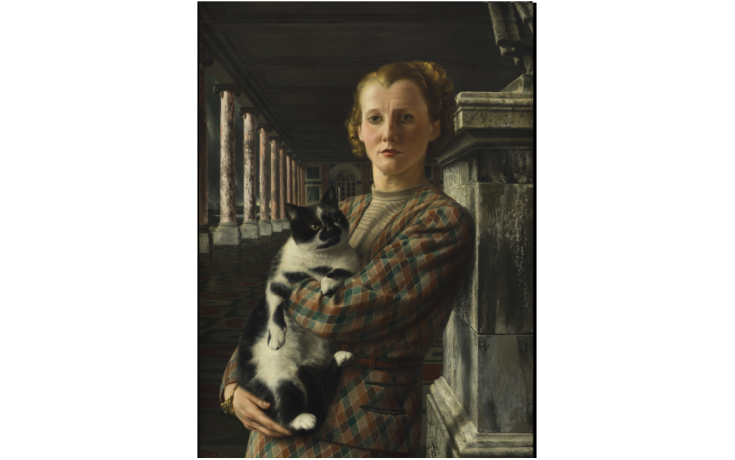 Carel Willink, Wilma with Cat 1940. Collection Museum Arnhem © Sylvia Willink