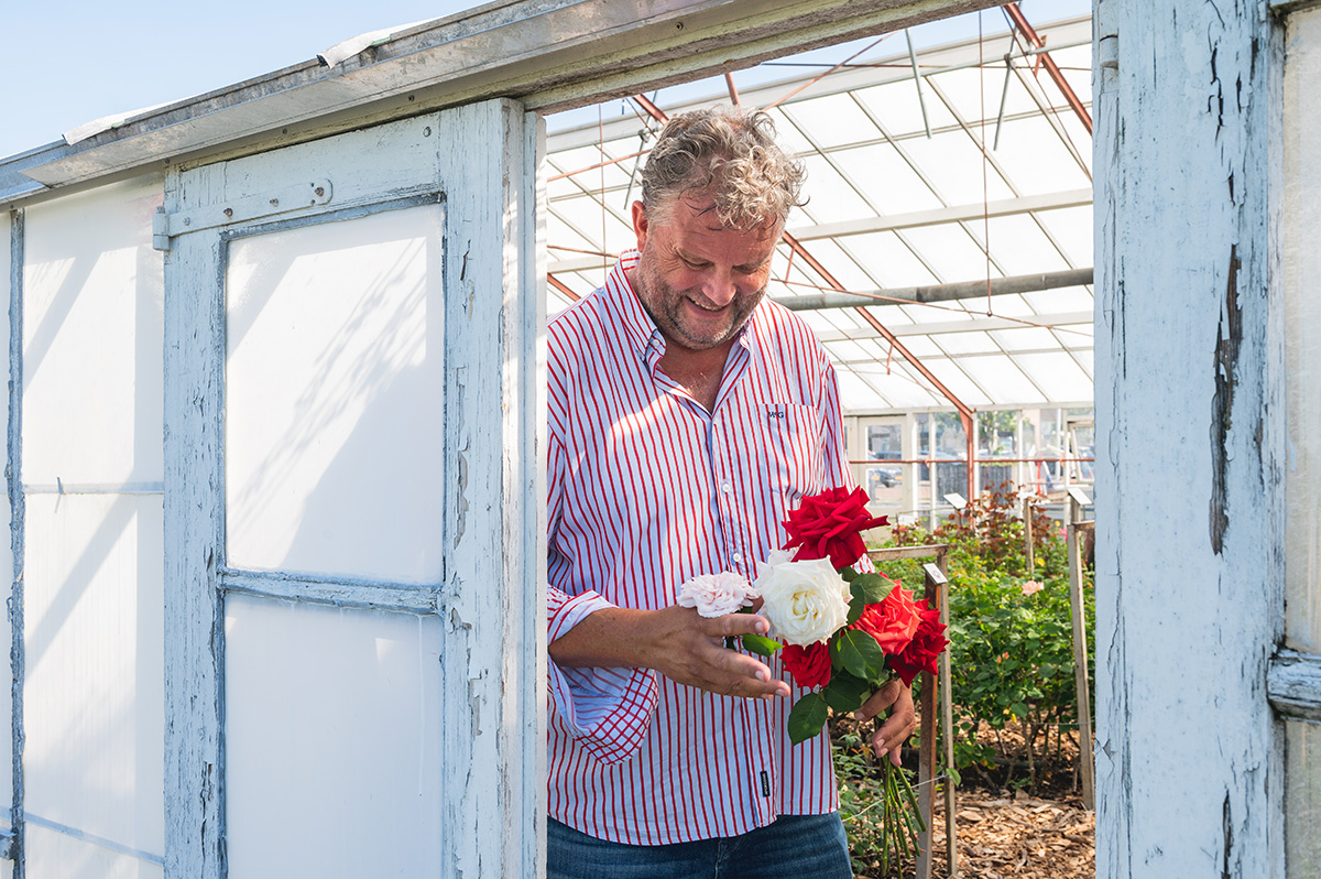 Jan de Boer in his greenhouse