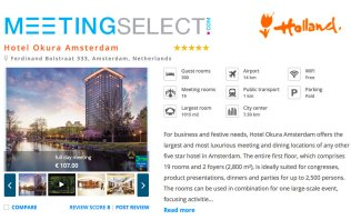 Book your event at Hotel Okura Amsterdam