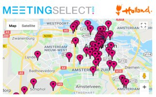 Find your hotel & venue in Amsterdam