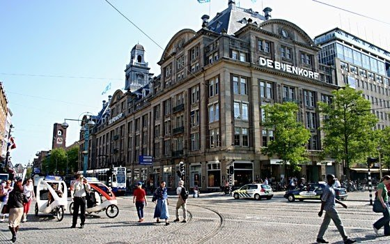 The Bijenkorf is a large department store in Amsterdam