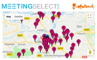 Find your hotel & venue in 's-Hertogenbosch