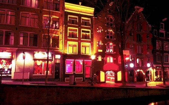 A street in the red light district