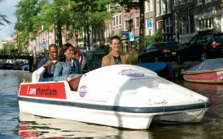 Pedal boats in Amsterdam