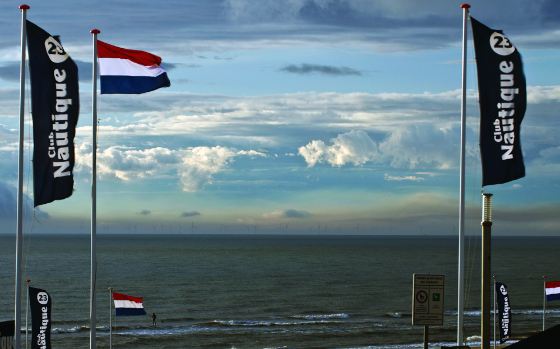 Flags of beachclub Nautique in Zandvoort