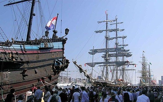 Sail is a large maritime event held every 5 years in Amsterdam