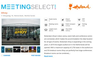 Book your event at Rotterdam Ahoy
