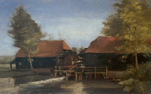 Van Gogh's Watermill at Kollen back at The Noordbrabants Museum