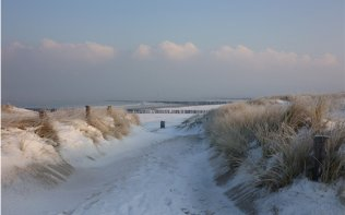 Winter on the Dutch coast