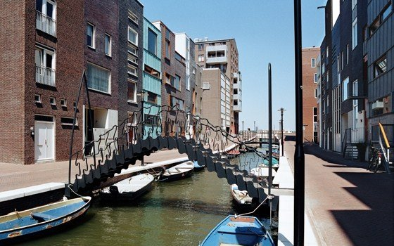 A modern canal in the Eastern docklands