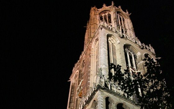 Domtoren in utrecht by night