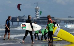 Surfing in Scheveningen
