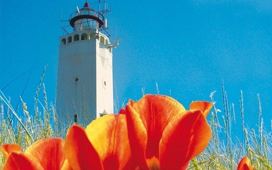 a lighthouse in noordwijk