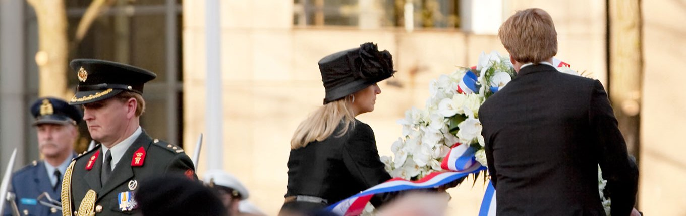 Queen Maxima and king Willem Alexander at Remembrance Day