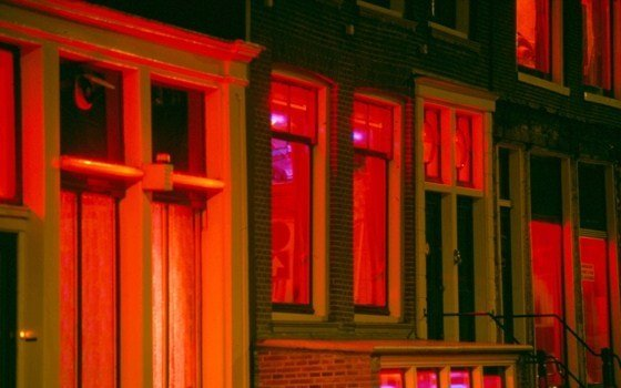 windows in the red light district