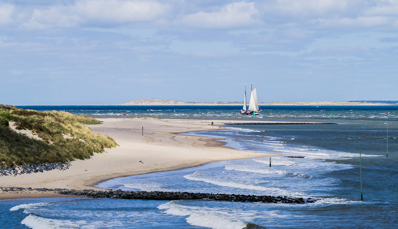Seaside on Vlieland island