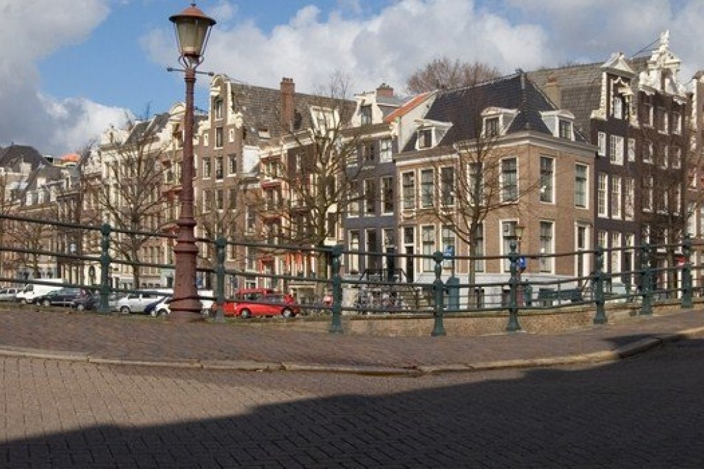 A view on some old houses in Amsterdam