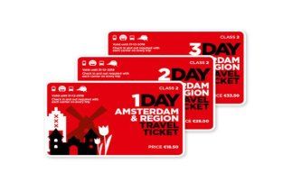 Billet Travel Ticket Amsterdam & Region