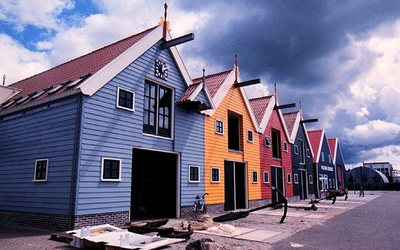Fisherman houses in the province of Groningen