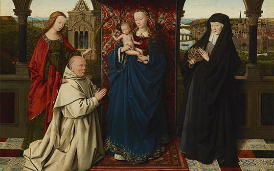 Virgin and Child with Saints and Donor. 1440 - Jan van Eyk, Frick Collection NY