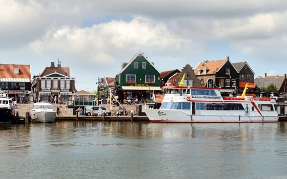 Port of Volendam with Marken express
