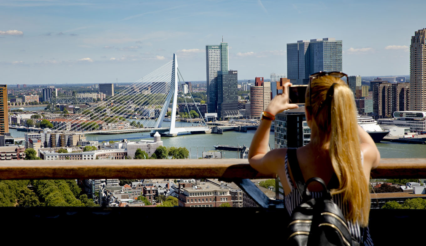 View on Erasmusbrug from Euromast