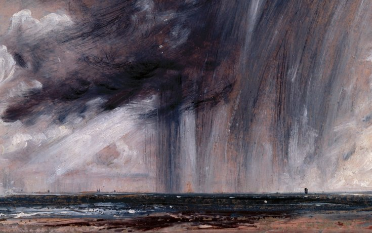 © J. Constable, Regenstorm over de zee, Royal Academy of Arts, Londen