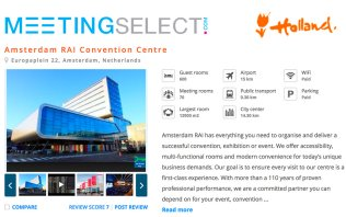 Book your event at RAI Amsterdam