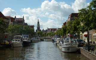 Alkmaar seen from the water