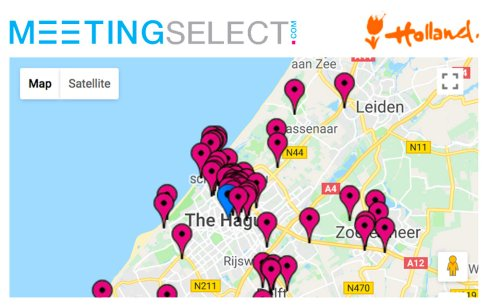 Find your hotel & venue in The Hague