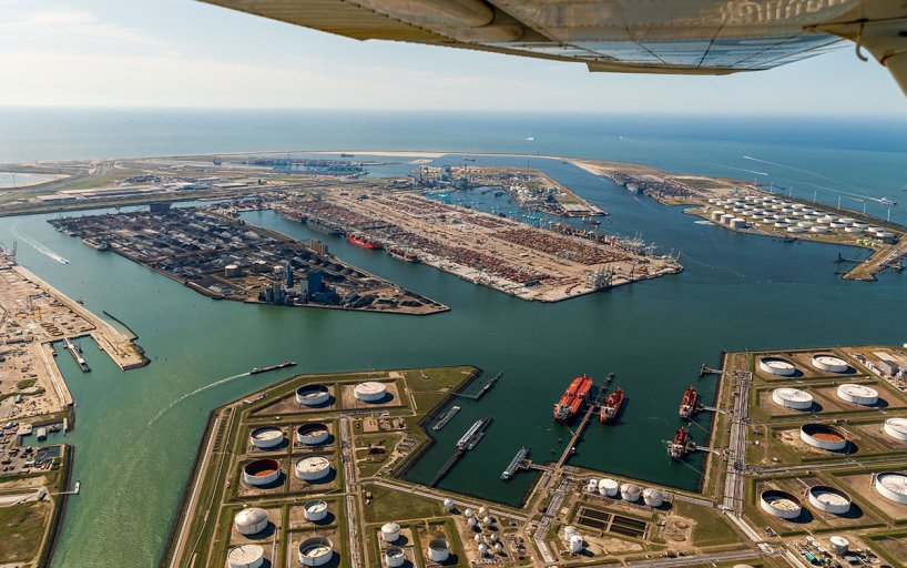 Port of Rotterdam aerial view