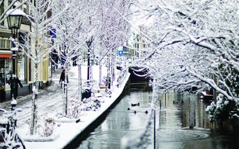 Route: Amsterdam im Winter