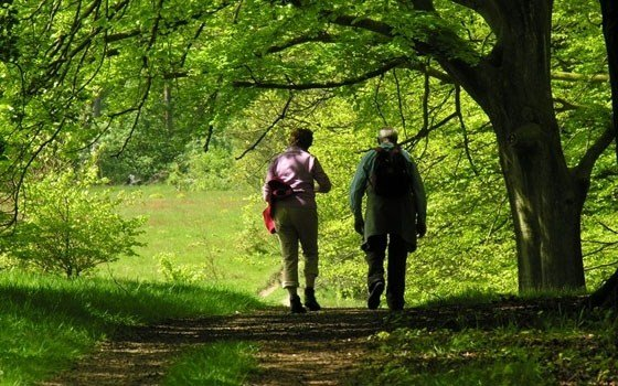 Two people hiking in Holland