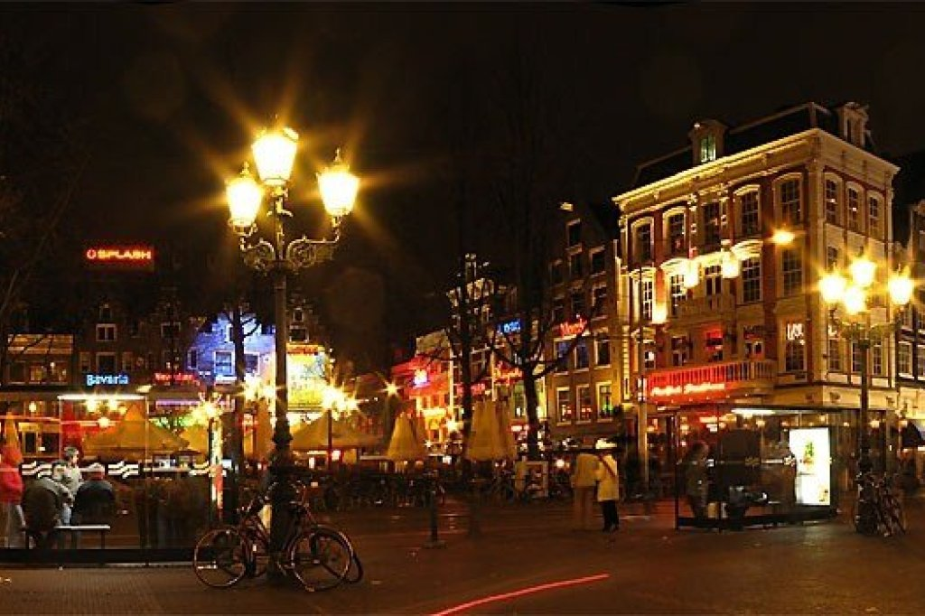 One of the major entertainment area's of Amsterdam