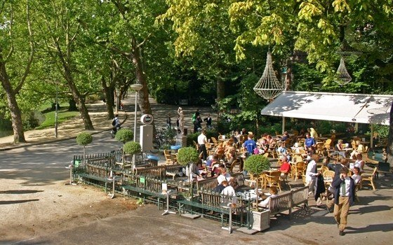 The terrace of cafe Vertigo in the Vondelpark