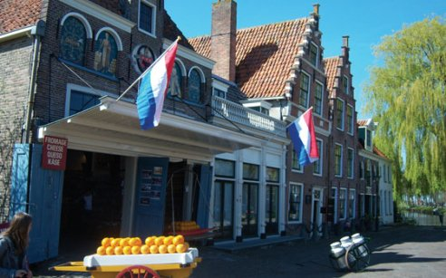 Cheese market in Edam
