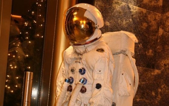 An astronaut suit exposed in Space Expo in Noordwijk