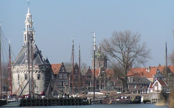 An historic townscape in Hoorn