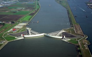 The Maeslantkering storm surge barrier
