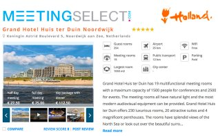 Book your event at Grand Hotel Huis ter Duin