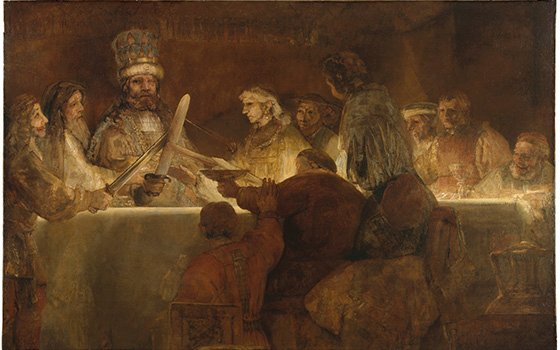 The Conspiracy of Claudius Civilis by Rembrandt 1661-62 Nationalmuseum Stockholm