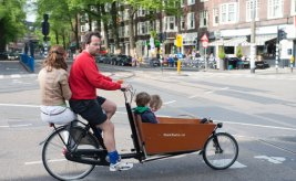 One of many unusual types of bicycles in Holland. Photo from Netherlands Board of Tourism