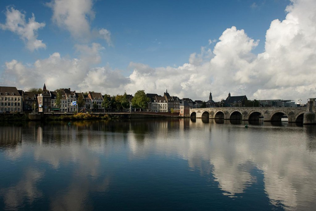 A 13th century bridge in the city of Maastricht