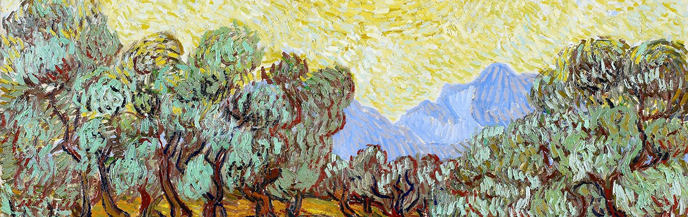 Olive Trees - painting by Van Gogh