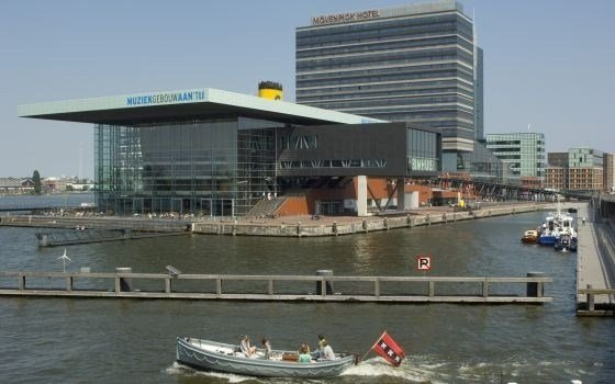 View of the Muziekgebouw aan't ij and the Bimhuis