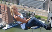 Rappelling down the Euromast
