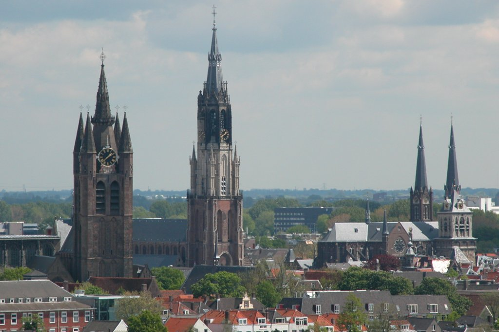 Old and New Church in Delft